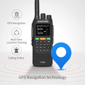 Image 4 - Zastone 889G GPS ווקי טוקי 10W 999CH 3000mAh UHF 400 520/VHF136 174MHz חם CB רדיו HF משדר עבור לחקור ציד