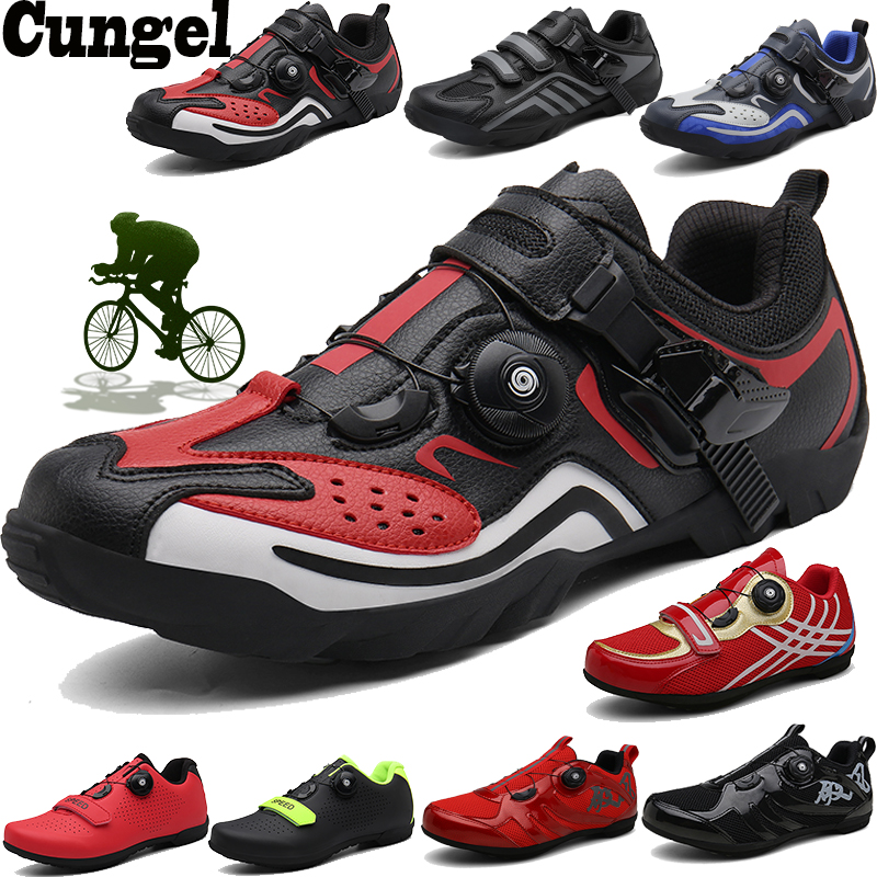 CUNGEL Cycling-Shoes Sneakers Mountain-Bike Professional Racing Breathable Women Self-Locking title=