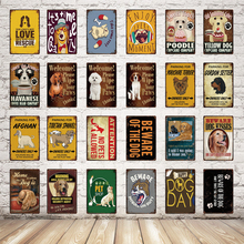 Love Pets/Beware Of The Dog/Attention No Pets Allowed Metal Sign Tin Poster Bar Home Pet Shop Decor Wall Art Painting