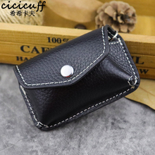 Genuine Leather Handmade Men Belt Car Key Wallet Waist Hanged Automobile Key Holder Bag Mini Key Case Male Housekeeper Portable
