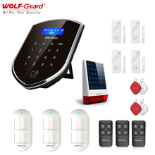 Wolf Guard GSM Wifi Wireless Home Security Alarm SystemชุดDIY APPรีโมทคอนโทรลMotion Detector Sensor Solar Poweredไซเรน