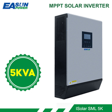 EASUN 전원 5KVA 태양 광 인버터 4000W 48V 230V 순수 사인파 하이브리드 인버터 내장 60A MPPT 태양 컨트롤러 배터리 충전기