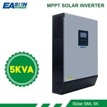 EASUN moc 5KVA falownik solarny 4000W 48V 230V czysta fala sinusoidalna hybrydowy falownik wbudowany 60A solarny regulator MPPT ładowarka baterii