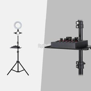 Image 5 - 200x130mm placa de som bandeja transmissão ao vivo microfone rack suporte bandeja tripé telefone braçadeira titular para ao ar livre cantando dispositivos peças