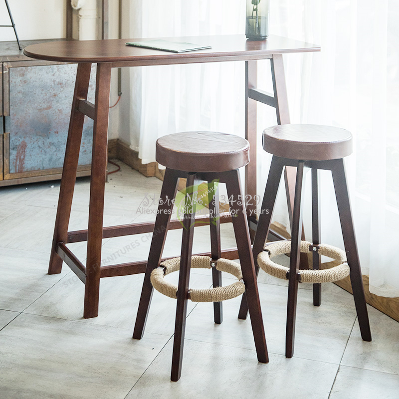 21%Iron Bar Chair Stool Bar Tabouret De  Seat Bar Furniture Make Up Chair Beauty Salon Furniture Nordic Solid Wood