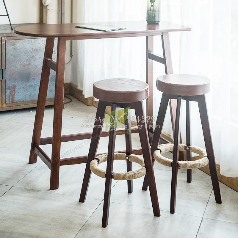 21%Iron Bar Chair Stool Bar Tabouret De  Seat Bar Furniture Make Up Chair Beauty Salon Furniture Nordic Solid Wood