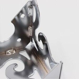 Image 4 - 4 قطعة أثاث معدني الأجهزة الساقين جوفاء أريكة القدم نمط أسود للتلفزيون خزانة الساقين دعم الأثاث واقيات زوايا معدنية