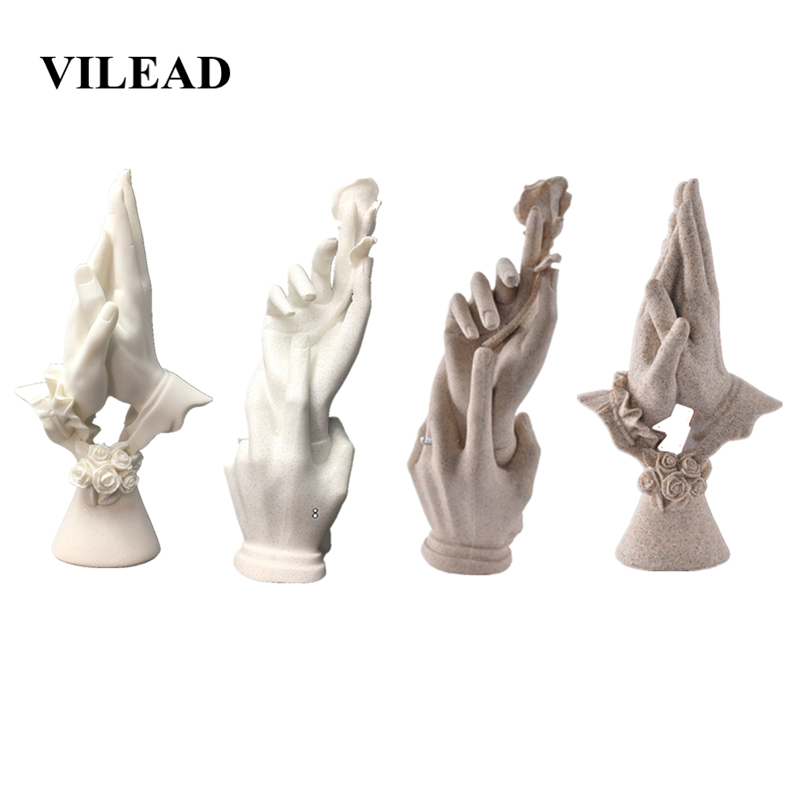 VILEAD Hand in Hand Figurines Wedding Decoration Anniversary Souvenirs Statuettes Creative Gifts for Wife Girlfriend Home Decor|hand|hand decoration|  - title=