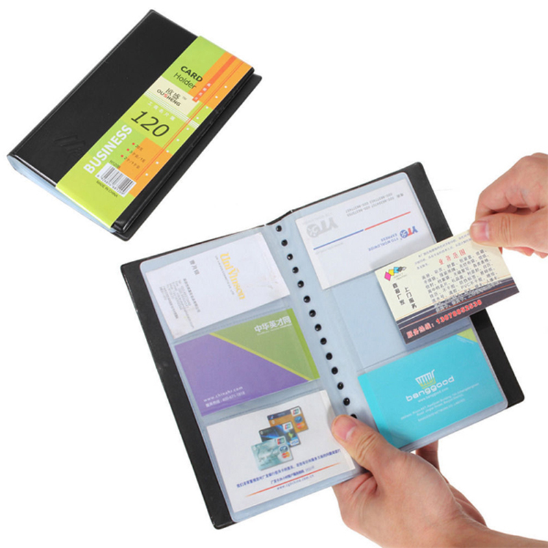 New Protable Leather Credit Card Holder 120 Cards ID Book Case Keeper Organizer Business Name Card Holder