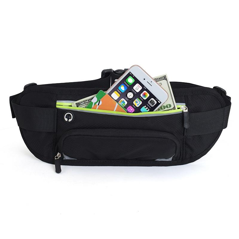 Sports Waistbag Water Bottle Bag Running Waist Bags Reflective Stripe Waist Belt Packs Fitness Phone Pouch ZJ55