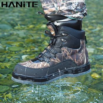 HANITE camo upstream boots with felt sole,which is made of quick dry fabric. Aqua boots can be used in camping ,hunting.