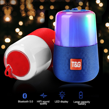 TG168 Fashion Speaker Flash LED Light Portable Bluetooth Speakers Waterproof Small Soundbar Support FM Mic AUX USB TF Card
