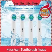 4x сменные насадки для электрической зубной щетки Oral-B Fit Advance power/Pro Health/3D Excel/Triumph/Vitality Clean