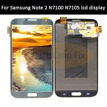 Super AMOLED LCD Para Samsung Galaxy Note 2 Note2 N7100 N7105 T889 i317 i605 L900 Display LCD de Toque Digitador Da Tela montagem