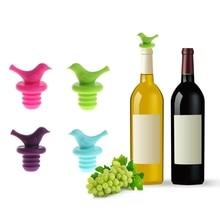 В форме милой птички силиконовые вакуумные герметичные шампанское напитки вина пробка для бутылок крышка