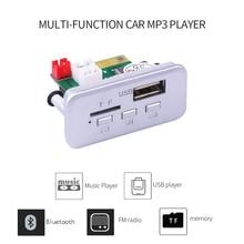 KEBIDU 5 в 12 В Автомобильный MP3-плеер декодер плата аудио модуль беспроводной fm-приемник радио WMA FM TF USB 3,5 мм AUX для автомобильных аксессуаров