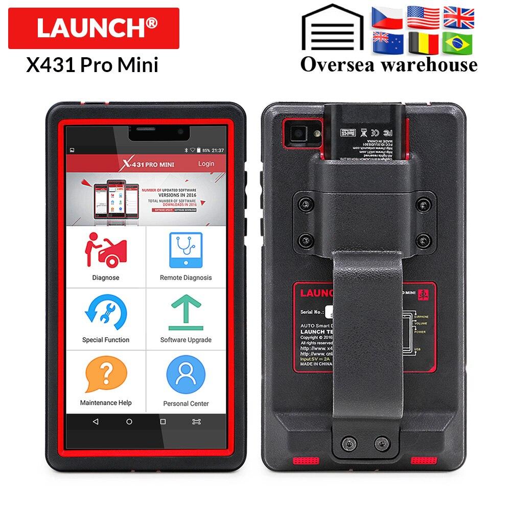LANÇAMENTO X431 Pro Mini Auto ferramenta de diagnóstico de Suporte WiFi/Bluetooth X-431 Pro Mini Car Scanner completa do sistema 2 anos atualização gratuita