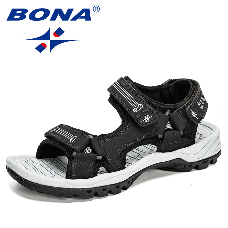BONA 2020 New Style Leisure Outdoor Beach Men Casual Shoes High Quality Action Leather Summer Sandals Men Comfortable Footwear