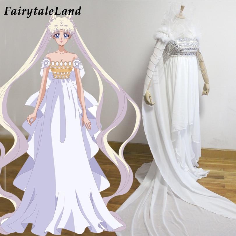 Sailor Moon Cosplay Costume Halloween Adult Princess Serenity Dress Cosplay Sailor Moon Tsukino Usagi Princess Costume