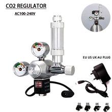 DIYAquarium CO2 regulator,With check valve Bubble counter Solenoid valve Control system kit Aquarium CO2 pressure reducing valve