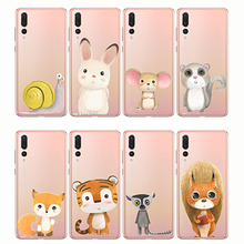 Phone Cases cartoon zebra penguin Bear fox Koalas lion bird panda tiger rabbit Hedgehog animal for huawe Psmart P30 P20Pro Lite