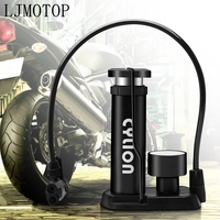 Mini motorcycle Bicycle Tire Pump Foot Activated Pump Tyre Inflator Pressure Gauge Inflation Needle Inflatable Device Valve