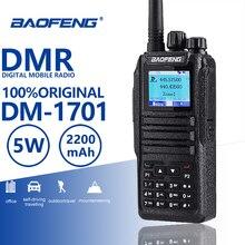 Baofeng 디지털 DM 1701 워키 토키 계층 2 듀얼 타임 슬롯 듀얼 밴드 양방향 라디오 DMR 햄 아마추어 라디오 방송국 HF 송수신기