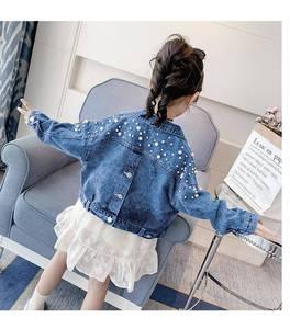 Image 4 - Benemaker ג ינס מעיל עבור בנות ילדים של ז אן בגדי מעיל רוח תינוק ילד ג ינס מעיל ילדה רקמת הלבשה עליונה ציצית YJ140