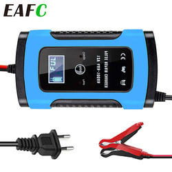 6A Full Automatic Car Battery Charger Power Pulse Repair Chargers Wet Dry Lead Acid Battery-chargers Digital LCD Display Charger