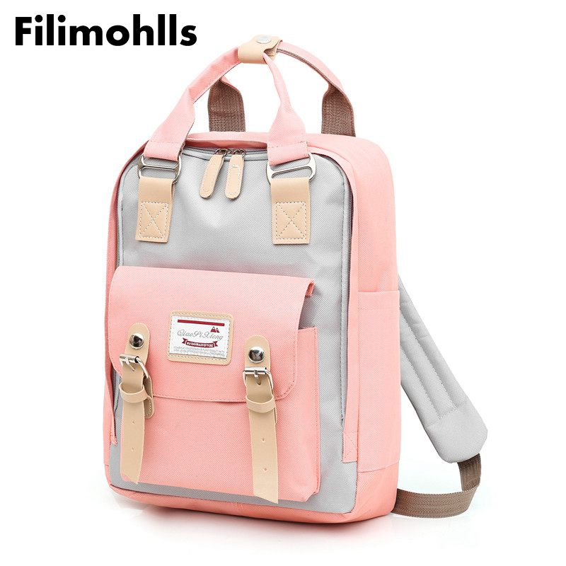 Laptop Backpack Schoolbag Canvas Travel Teenager Multifunction Girls High-Quality Shoulder-Bag