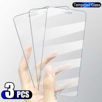 3PCS Full Cover Tempered Glass On the For iPhone 7 8 6 6s Plus X Screen Protector On iPhone X XR XS MAX SE 5 5s 11 12 Pro Glass 2