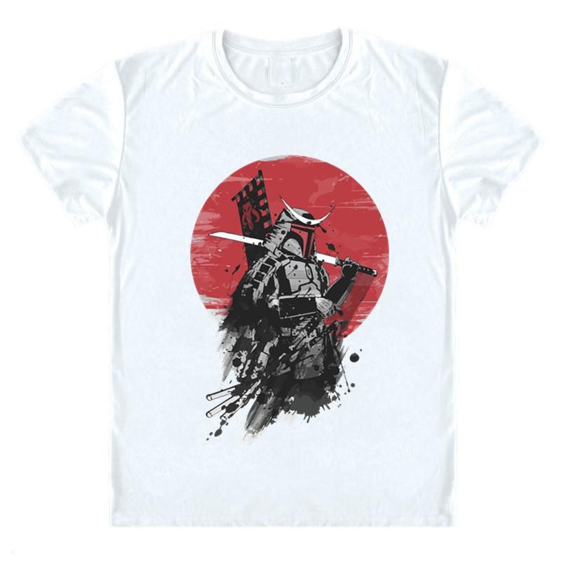 Mandalorian T Shirt Bounty Boy Mandalorian T-shirt Samurai Harajuku Yoda Mandalorian Helmet Printed Tee Shirt Star Wars Clothes