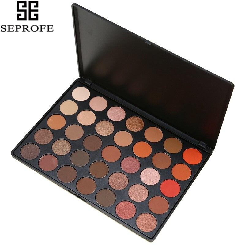 35 Color Eyeshadow Palette Earth Natural Shimmer Matte Beauty Makeup Set Smoky Eye-shadow O#