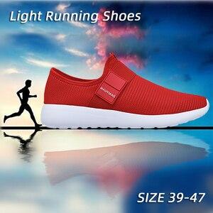 Image 2 - 2020 dos homens sapatos casuais malha leve respirável esportes tênis de corrida moda confortável sapatos homem apartamentos