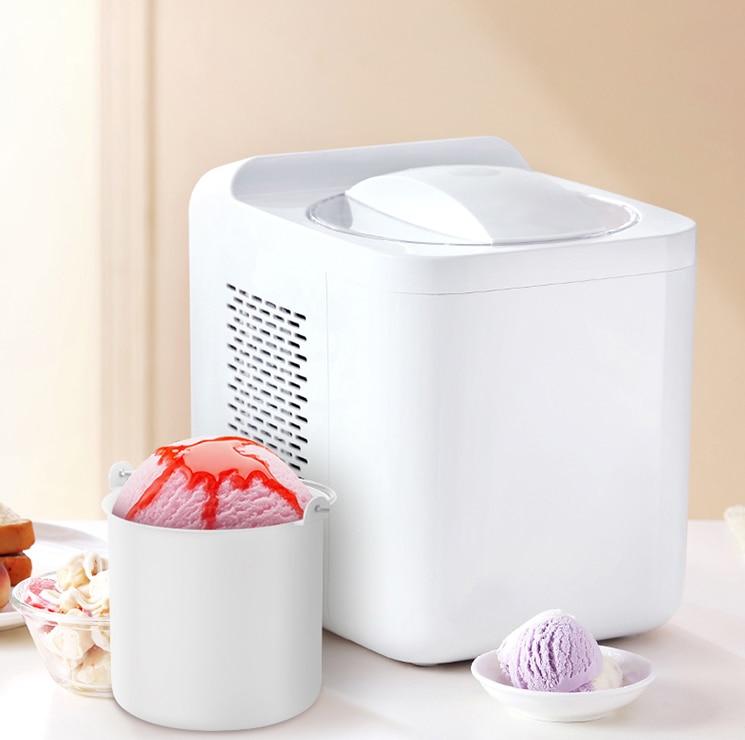 1L Home Automatic  Mini Ice Cream Machine Household Intelligent SELF-COLD DIY Ice Cream Maker 1L