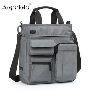 Image 1 - Bolso de mano de alta calidad para hombre, bolsa de hombro masculina de negocios para Ipad de 9,7 pulgadas, bolso de transporte diario urbano, bolso cruzado con muchos bolsillos