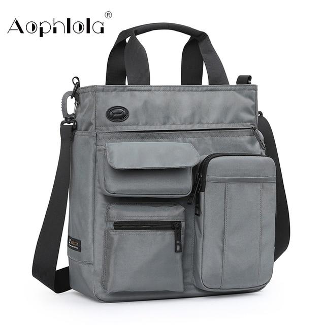Bolso de mano de alta calidad para hombre, bolsa de hombro masculina de negocios para Ipad de 9,7 pulgadas, bolso de transporte diario urbano, bolso cruzado con muchos bolsillos