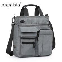 Yüksek kaliteli erkek iş el çantası erkek omuz çantaları için 9.7 inç Ipad kentsel günlük taşıma çantası Crossbody paketi birçok cep