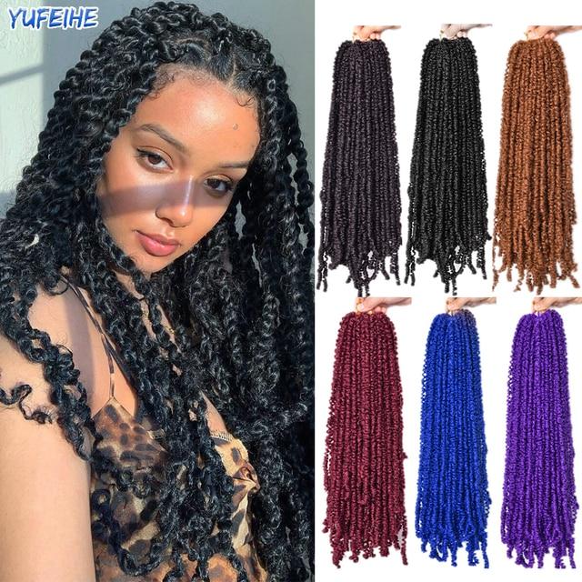 Spring Twist Locs Hair Passion Twist Crochet Hair Synthetic Braiding Hair Extensions 18Inch 100g/Pack Spring Twist Organic Hair 1