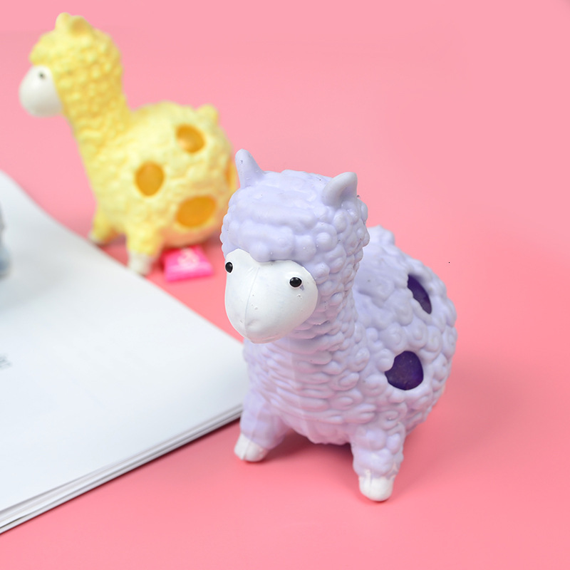New Kawaii Colorful Alpaca Squeeze Toys Squishy Slow Rising Soft Scented Simulation Stress Relief Toy Cartoon Decompression Toy