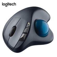 Logitech M570 עכבר אלחוטי עם 2.4GHz 1000DPI אופטי העקיבה עכבר ארגונומי עבור עכבר גיימר עבור Windos 10/8/7 Mac OS