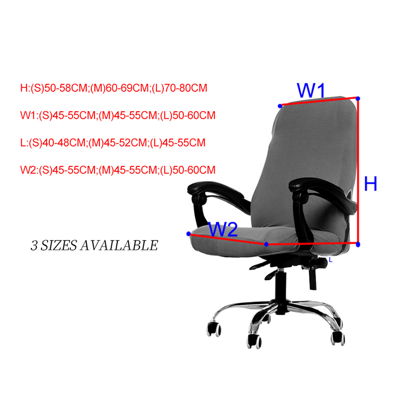 S/M/L Sizes Office Stretch Spandex Chair Covers Anti-dirty Computer Seat Chair Cover Removable Slipcovers For Office Seat Chairs 5