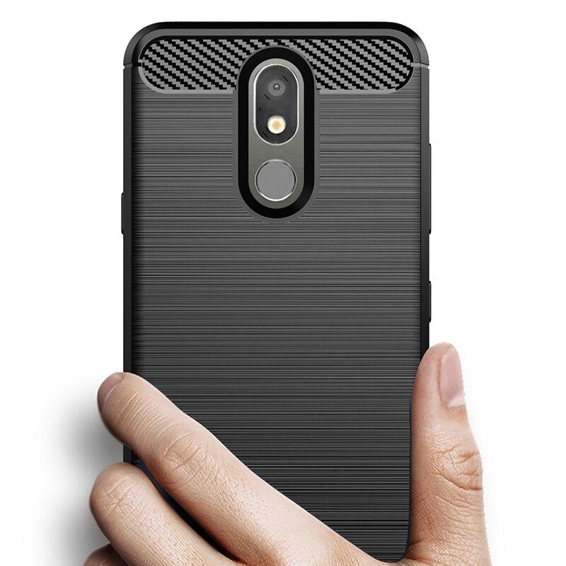 Carbon Fiber Cover Shockproof Phone Case For LG Q60 Q8 2018 Q7 G7 Q6 K11 K10 Stylo 4 Plus Q9 One K50 K30 Thinq Cover Bumper Case