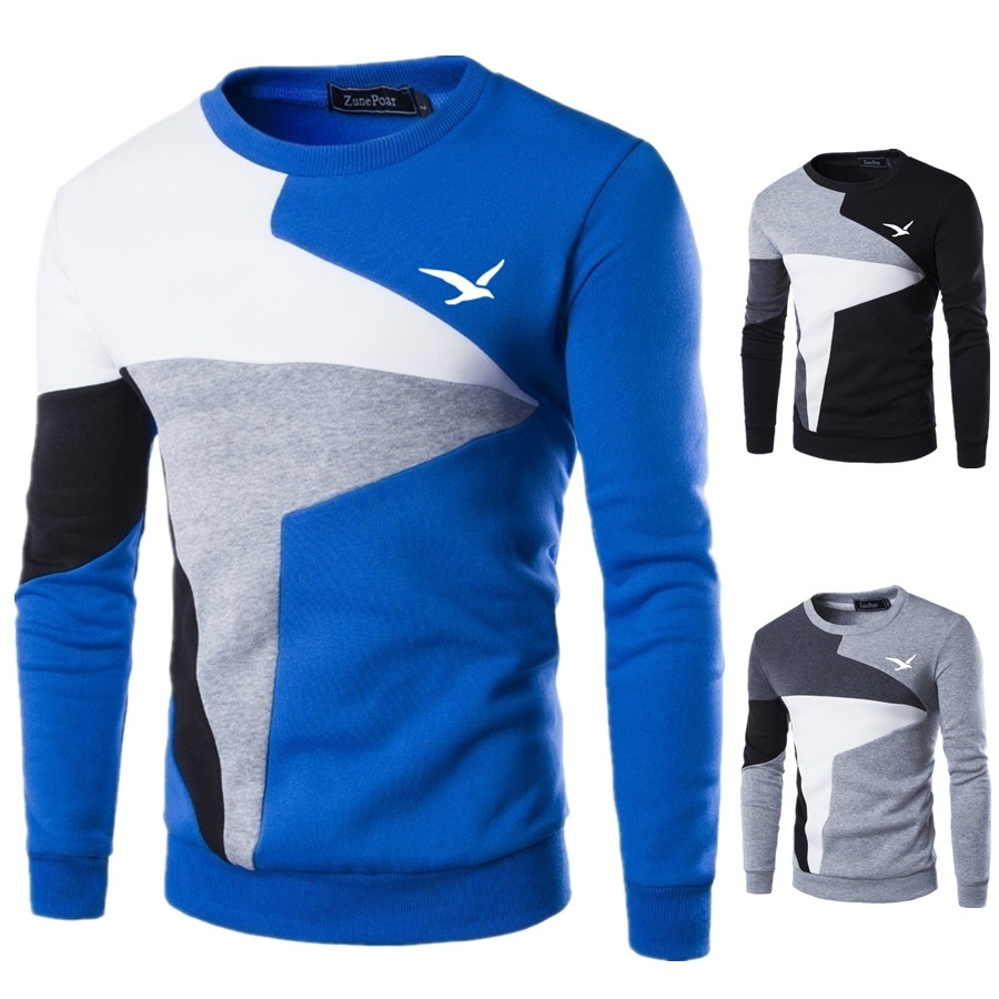 ZOGAA 2018 Sweaters Men New Fashion Seagull Printed Casual O-Neck Slim Cotton Knitted Mens Sweaters Pullovers Men Brand Clothing 3
