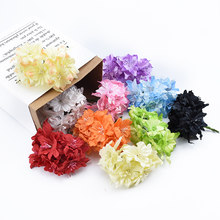 6/18 Pieces stamen Cherry blossoms silk Butterfly orchid diy gifts box christmas decorations for home wedding artificial flowers(China)