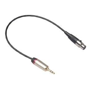 3,5 мм разъем 3pin Mini Female XLR, усилитель микрофона, стерео микшер, соединительный кабель