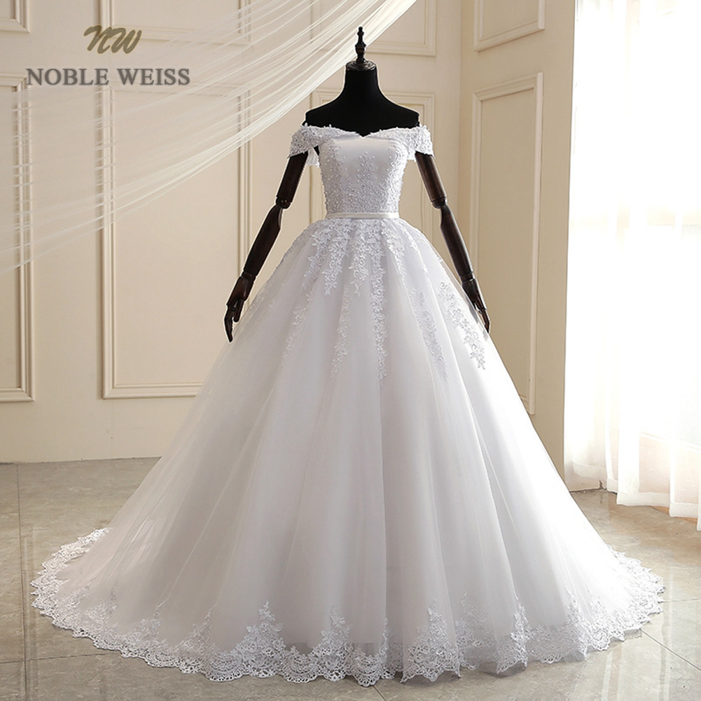 Wedding Dress  Appliques  Floor-Length  A-Line  Wedding Dresses  Tulle Bridal Gown