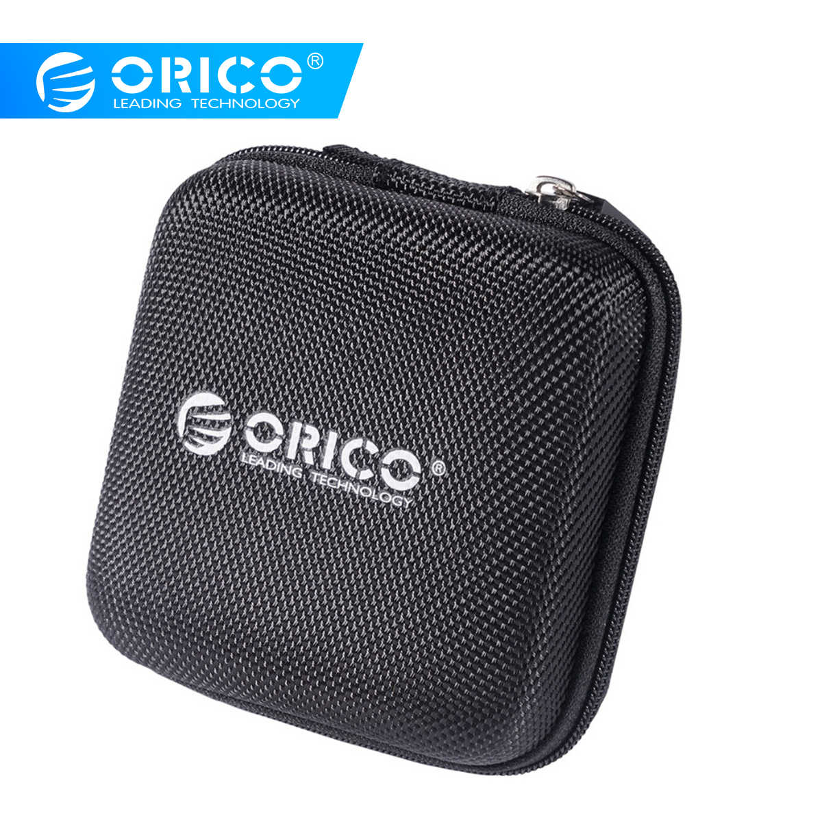 ORICO Headphone Case Bag Portable Earphone Earbuds Mini Earphone Bag Storage Case Bag for Memory Card USB Cable Organizer