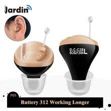JF1 лучшие слуховые аппараты CIC цифровой слуховой аппарат усилитель звука в ухо портативный Невидимый старшая батарея 312 дропшиппинг