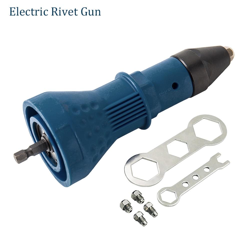 Electric Rivet Nut Gun Riveting Tool Cordless Nail Gun Auto Rivet Drill Adaptor Insert Multifunction Riveter Machine Tools